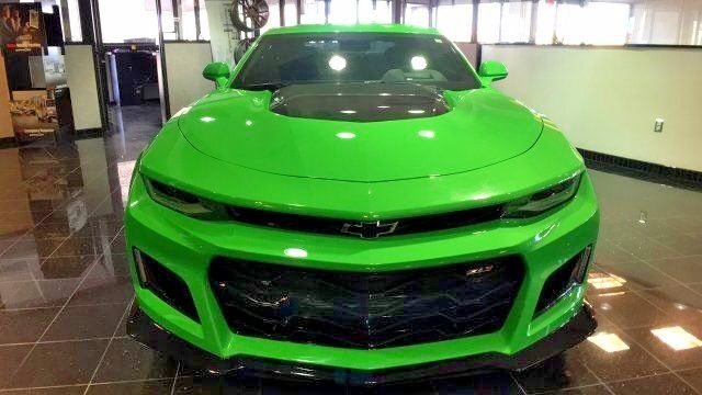 Awesome 2017 Chevrolet Camaro Zl1 2017 Zl1 Camaro 2 450 Miles Krypton Green Showroom Quality