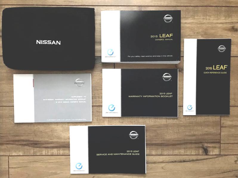 nissan leaf owners manual 2015