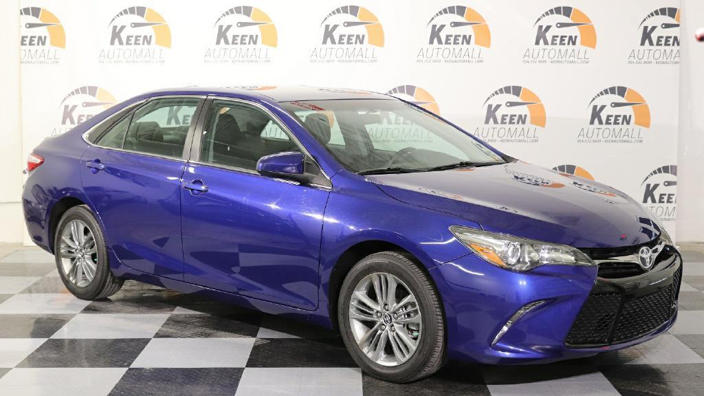 Awesome 2017 Toyota Camry Se 25928 Miles Blue 2 5l Automatic 2018