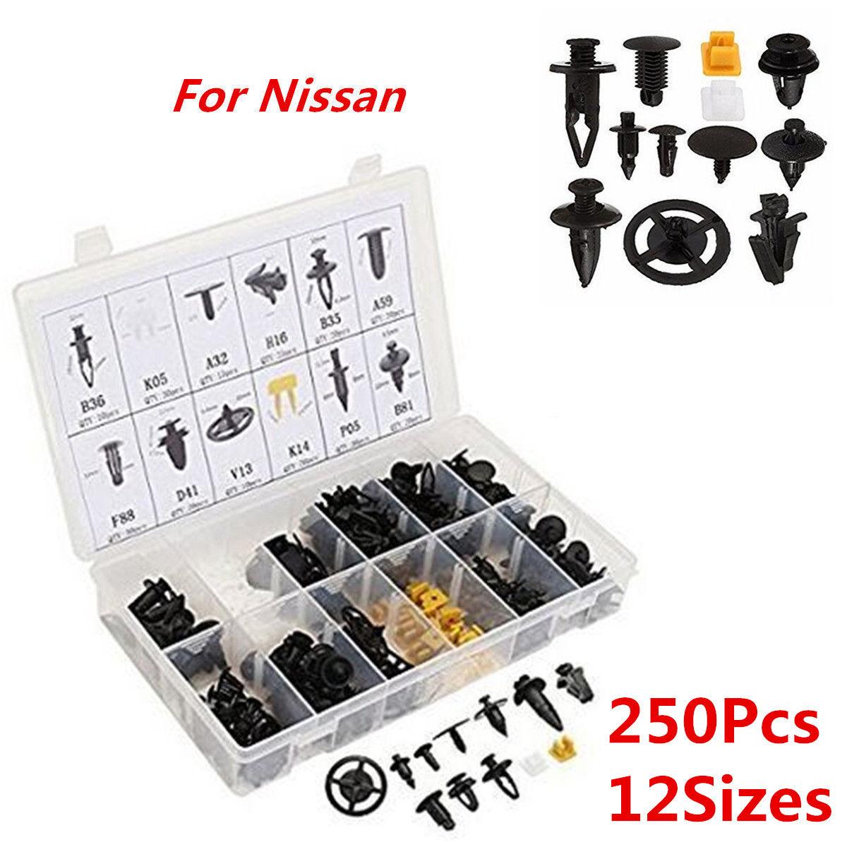 250Pcs Clips Trim Auto Car Body Fender Bumper Retainer Assortment Kit For Nissan