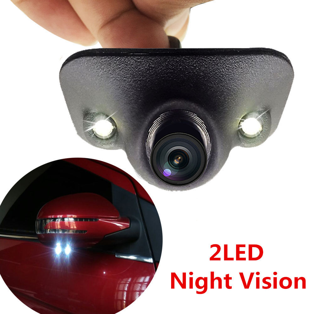 Amazing Adjustable 2 LED Car Side View Cam Wide Angle
