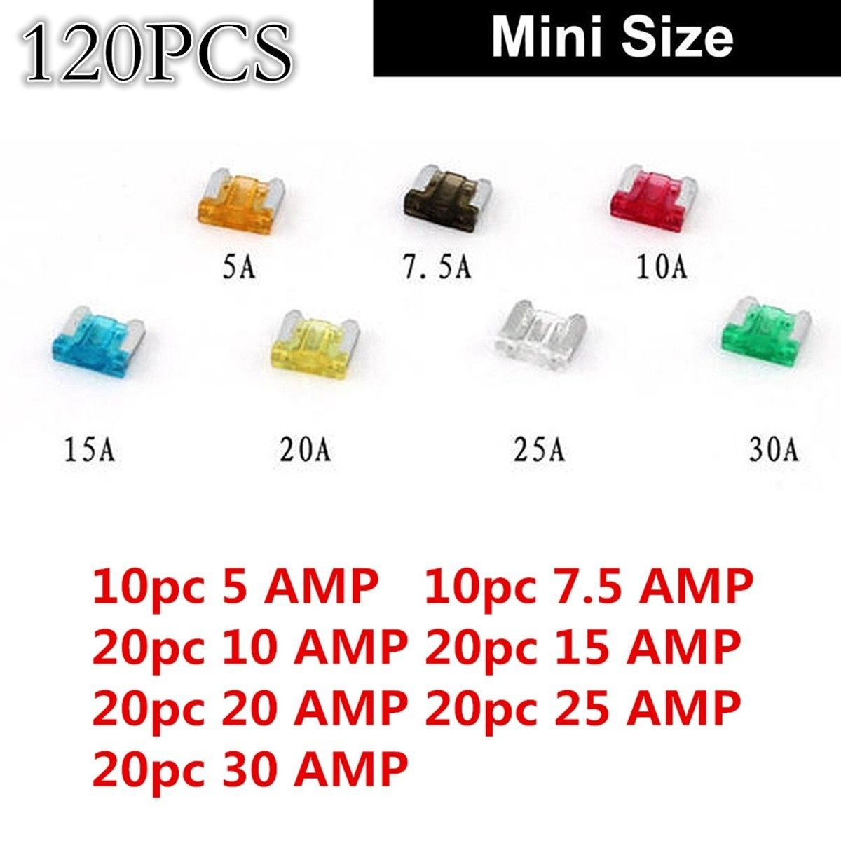 Awesome Diy 120pcs Car Mini Low Profile Fuse Box 5 75 10 15 20 25 Universal 30 Amp 2017 2018