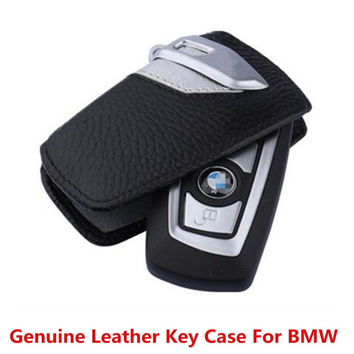 Used Genuine Leather Car Key Case Sport Line Fob Holder For Bmw 2