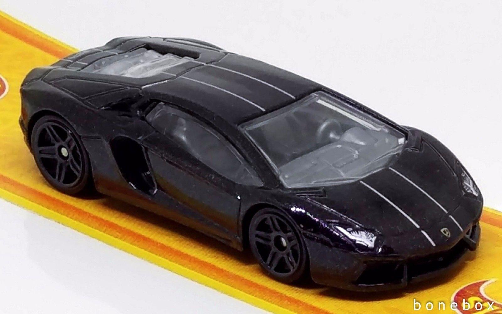 Great Lamborghini Aventador Black Hot Wheels 2017 Mint Loose