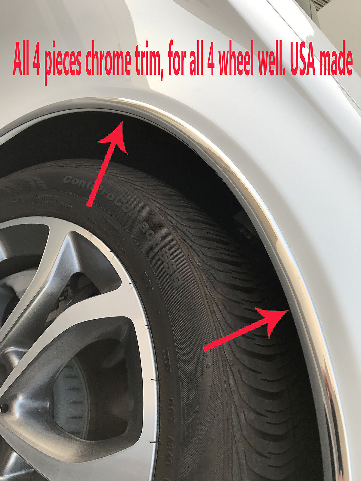 BMW CHROME WHEEL WELL FENDER TRIM MOLDING 4PC W//5YR WRNTY+FREE INTERIOR PC 1