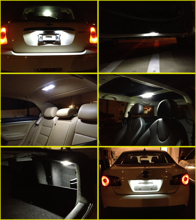 Great 8 X White LED Interior Bulbs + License Plate Lights