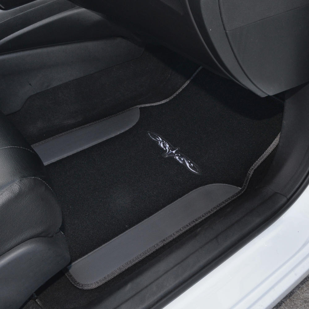 Awesome Black & Charcoal Gray PU Leather Car Seat Covers w/ Vinyl Trim  Floor Mats 2017/2018