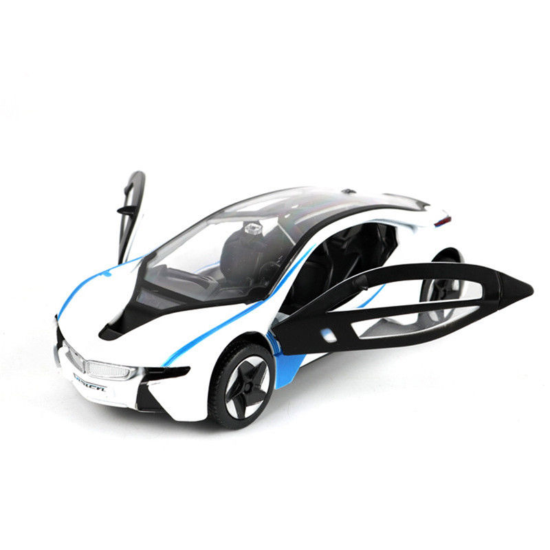 Great Bmw I8 1 32 Concept Car Diecast Metal Model Car Sound Light