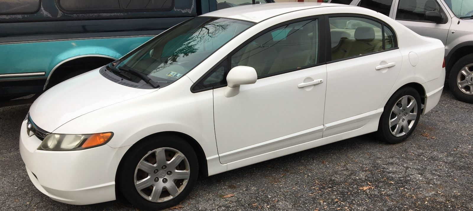 Awesome 2006 Honda Civic Lx Sedan 4 Door White Low Mileage Great Condition Clean Car Inspected 2018 2019