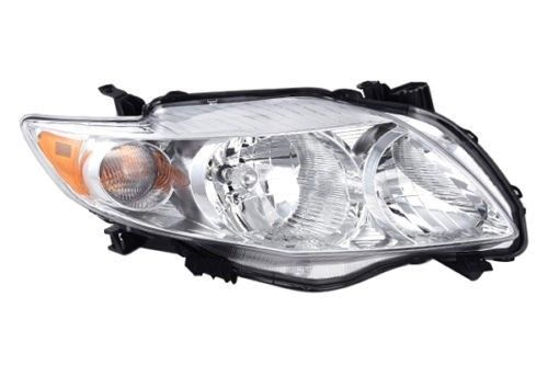 Right Passenger Side Head Lamp Headlight For 2009-2010 Toyota Corolla