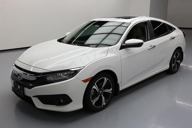 Awesome 2016 Honda Civic Touring Sedan 4 Door Sunroof Nav Htd Leather 19k Mi 007235 Texas Direct 2017 2018
