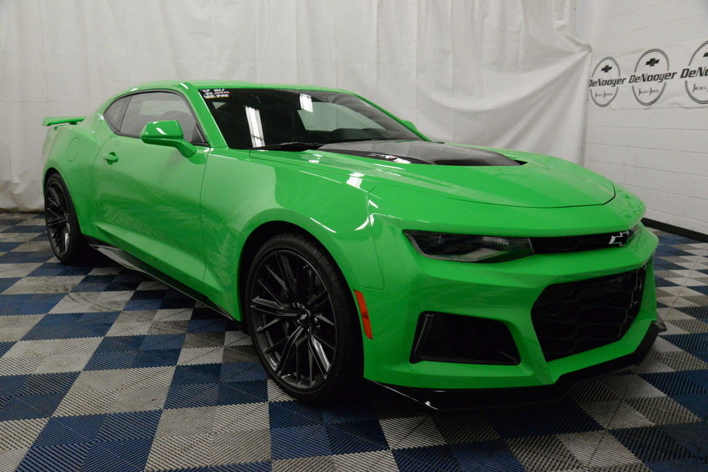 Awesome 2017 Chevrolet Camaro Zl1 Certified Pre Owned Warranty Krypton Green 6 2l V8 Supercharged Sd Manual 2018