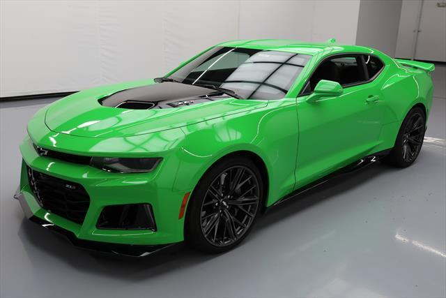 Awesome 2017 Chevrolet Camaro Zl1 Coupe 2 Door Chevy 6 Sd 650hp Krypton Green 1k Mi 203550 Texas Direct 2018 2019