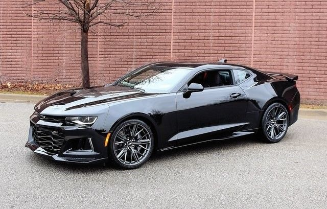 Great 2018 Chevrolet Camaro Zl1 6 Miles Black 2d Coupe 2l V8 Supercharged Sd Ma 2017