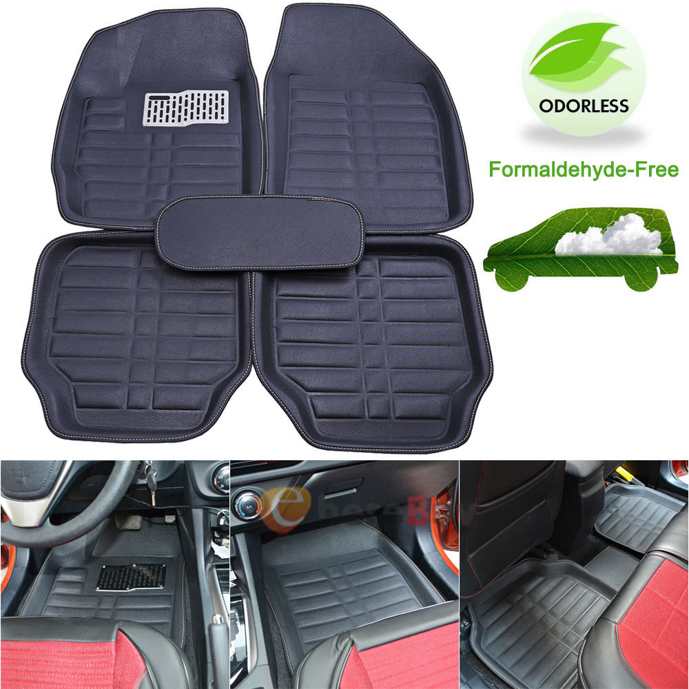 5x Universal Car Auto Floor Mats FloorLiner Front/&Rear Carpet All Weather Mat YR