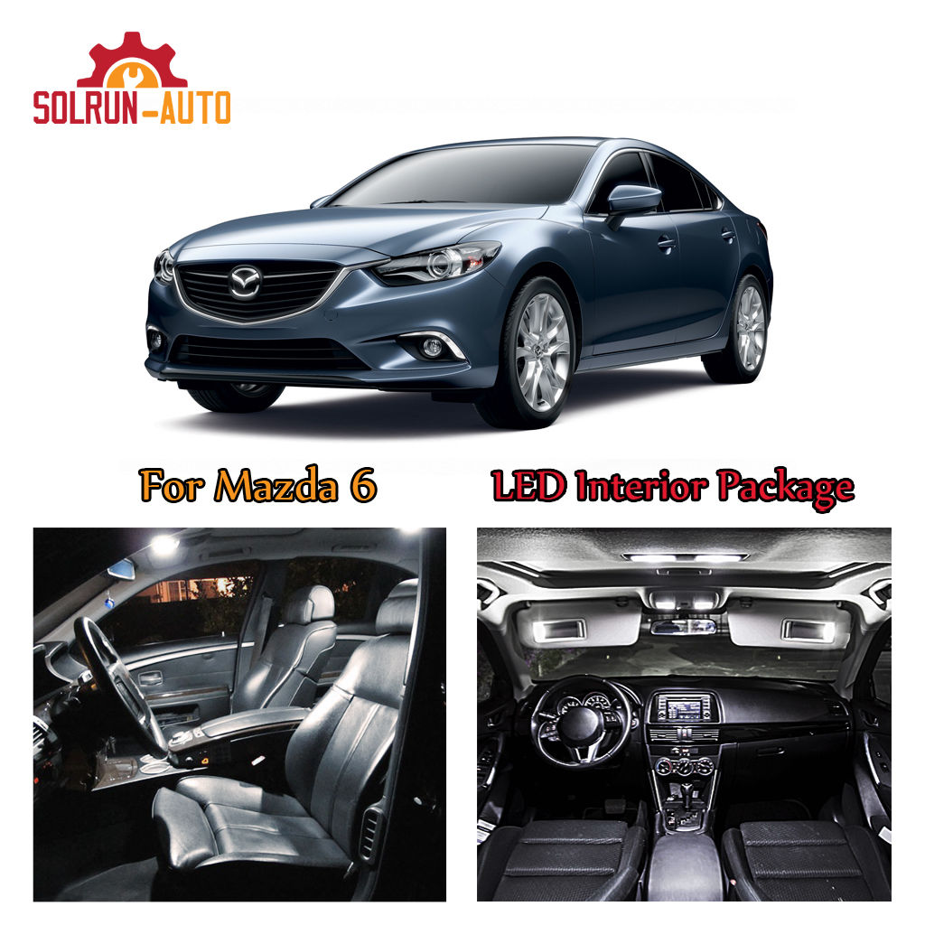 Amazing 9x White Led Xenon Lights Interior Package Kit For 2017 Mazda 6 2018 2019