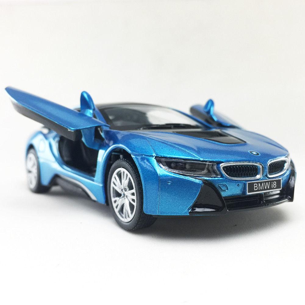 BMW I8 Plug-In Hybrid Sports Car Kinsmart 1:36 DieCast