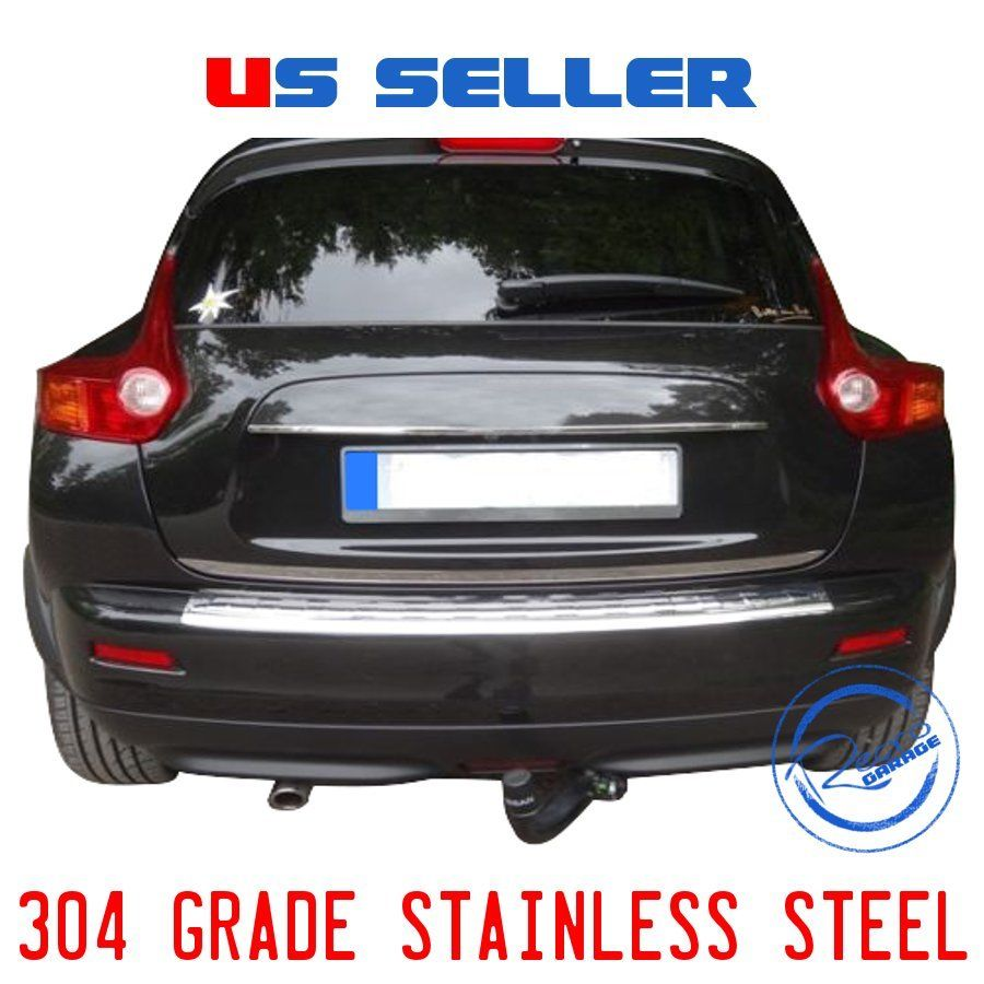 Chrome Rear Bumper Sill Cover Protect Trim Brushed S.Steel for Nissan Juke 2014