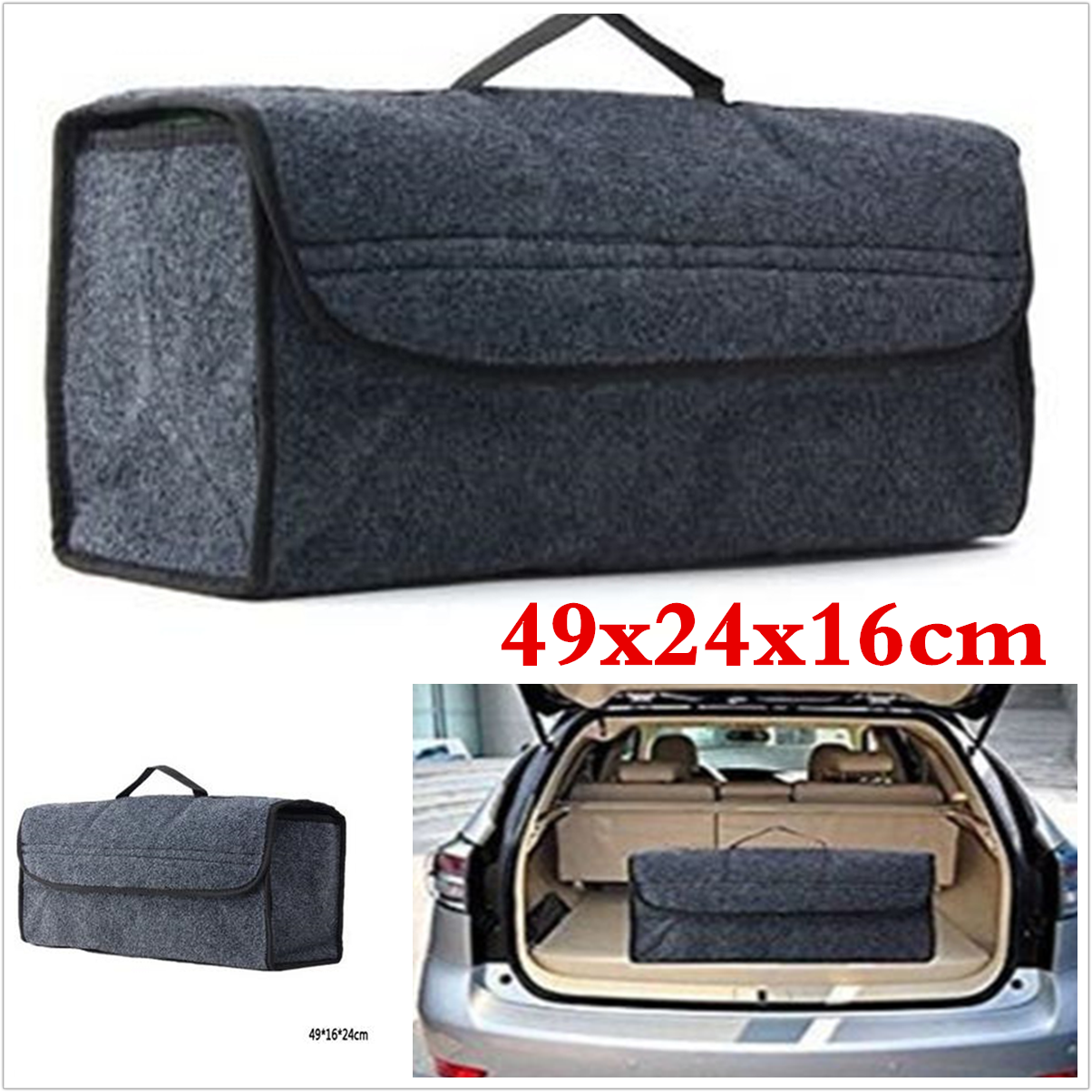 Suv Cargo Organizer >> Amazing Car Trunk Suv Cargo Organizer Foldable Collapsible Multipurpose Storage Box Bag 2017 2018