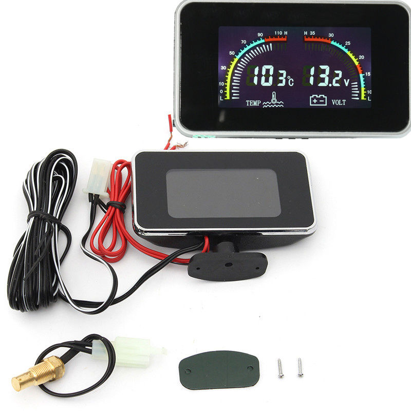 Awesome DC 9-36V Car LCD Digital Display Voltmeter Water Temperature Gauge  Thermometer 2017 2018