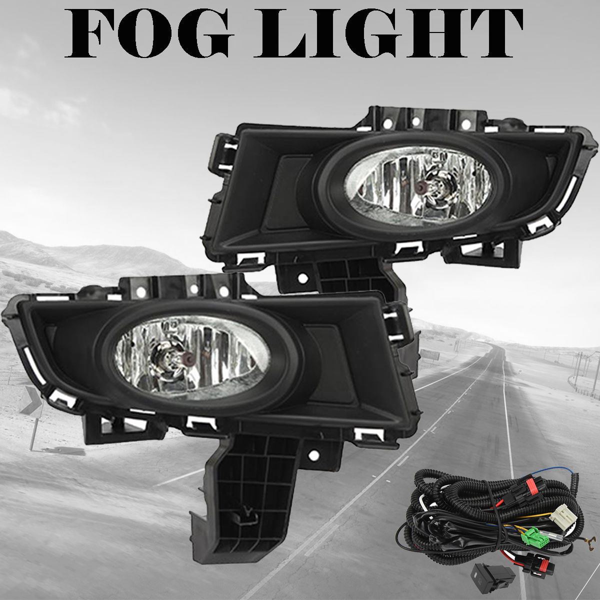 great for 2007 2008 2009 mazda 3 front bumper fog lights driving