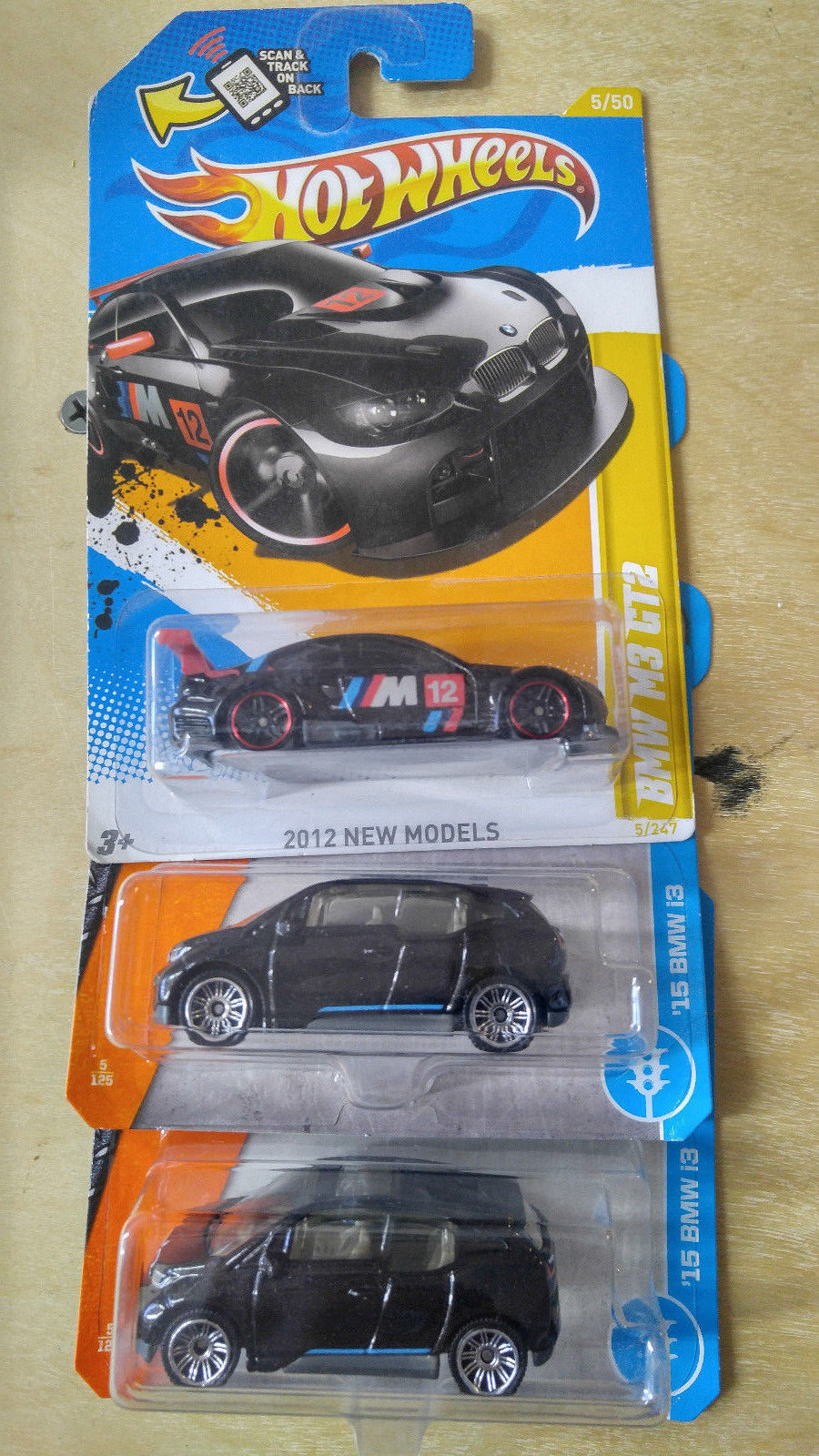 Amazing Hot Wheels Bmw M3 Gt2 Matchbox Bmw I3 Diecast Lot Of 3