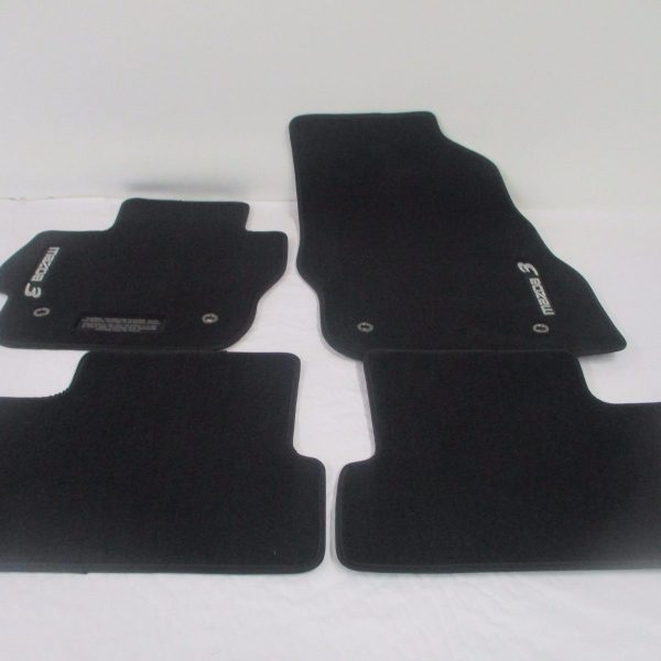 mazda floor carpet p set charcoal mats oem logo carpeted ebay s of