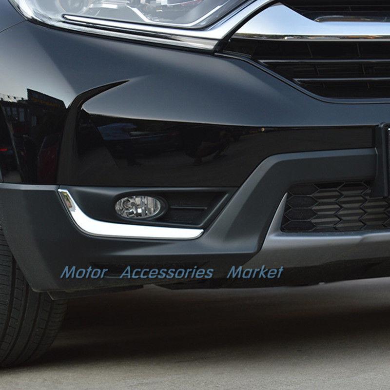 Front Fog Light Lower Trim for Honda CRV CR-V 2017 2018 Chrome Stainless Steel