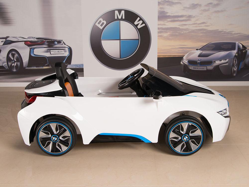 bmw i8 ride on kids power wheels car rc remote 12v white w blue 2018 2019 mycarboard com mycarboard com