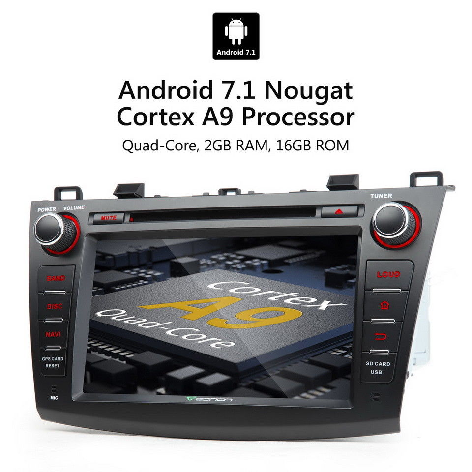 Amazing Android 8″ CAR STEREO DVD GPS Navigation for Mazda 3 2010-2013  RADIO + Camera R 2017/2018