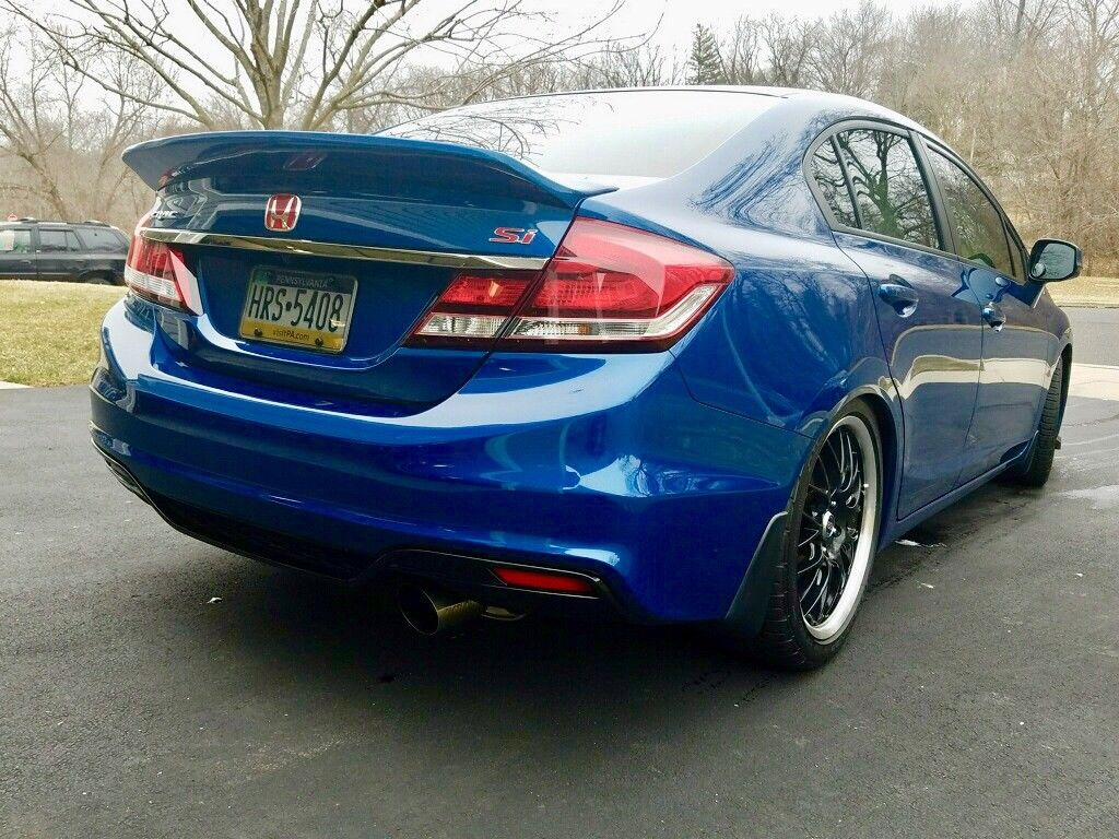 amazing  honda civic   honda civic  sedan  speed manual blue  mycarboard