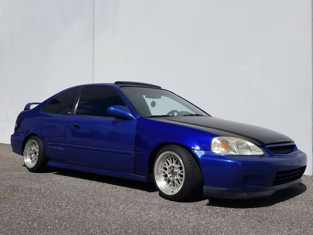 Amazing 1999 Honda Civic Si Ek B16a2 Em1 Coupe 5 Sd Electric Blue Pearl Clean Le 2018 2019
