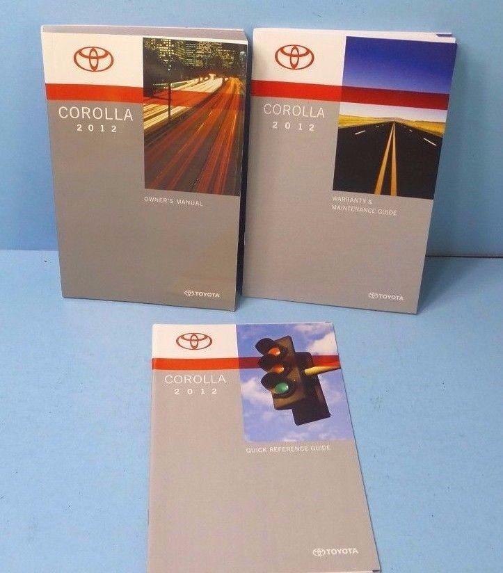 2012 corolla owners manual