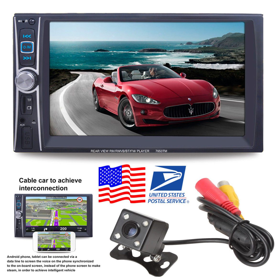 Awesome 2 Din Hd Touch Screen Bluetooth Car Stereo Radio Audio Video
