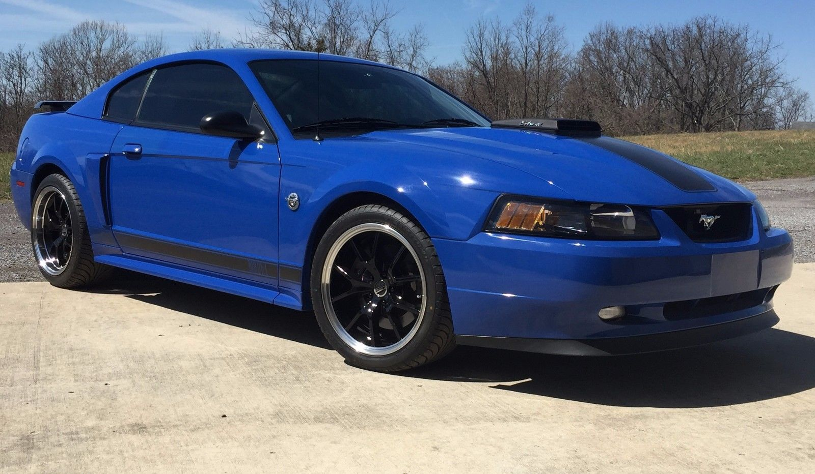 Awesome 2004 ford mustang mach 1 2004 mustang mach 1 azure blue 4 6 4 valve automatic 16k miles 2017 2018