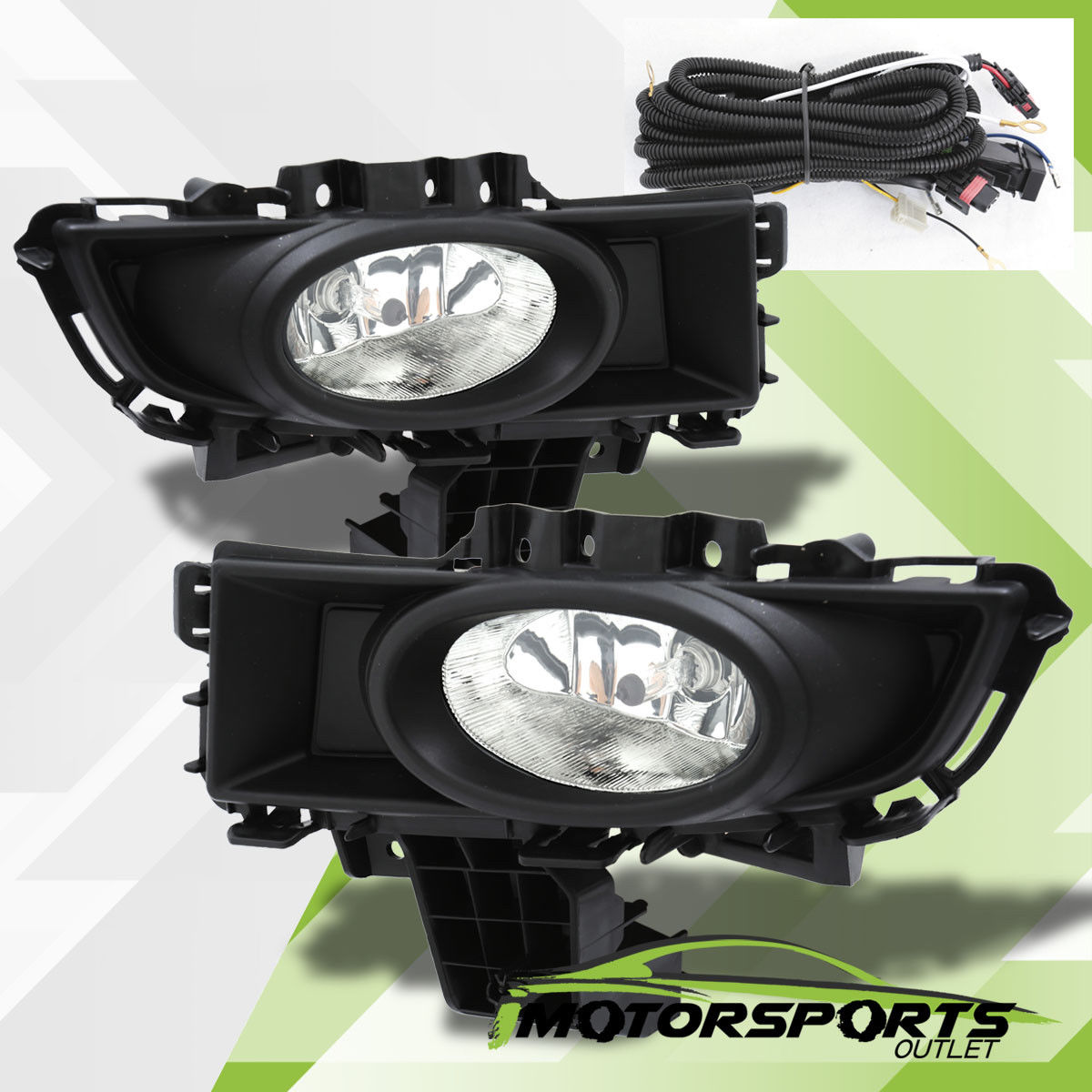Awesome 2007 2008 2009 Mazda 3 4dr Sedan Bumper Fog Lights Bulbs Wiring A Switch For Kit 2017 2018