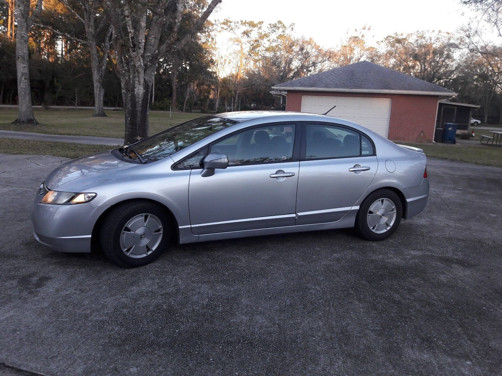 Amazing 2008 Honda Civic Silver Hybrid Sedan 4 Door For 2017 2018