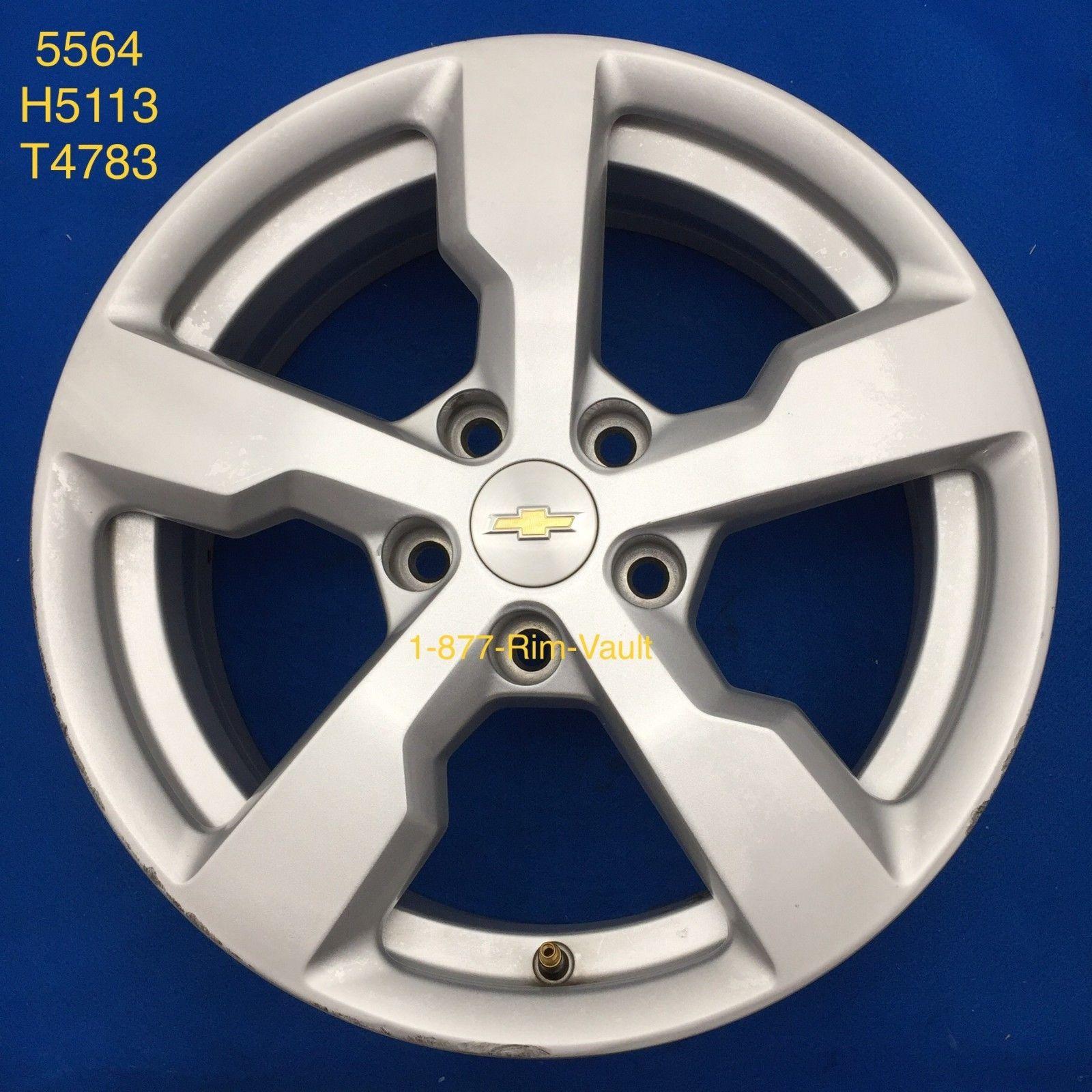 2013 2014 2015 2016 Chevrolet Volt Silver 17 Oem Wheel Rim 5564