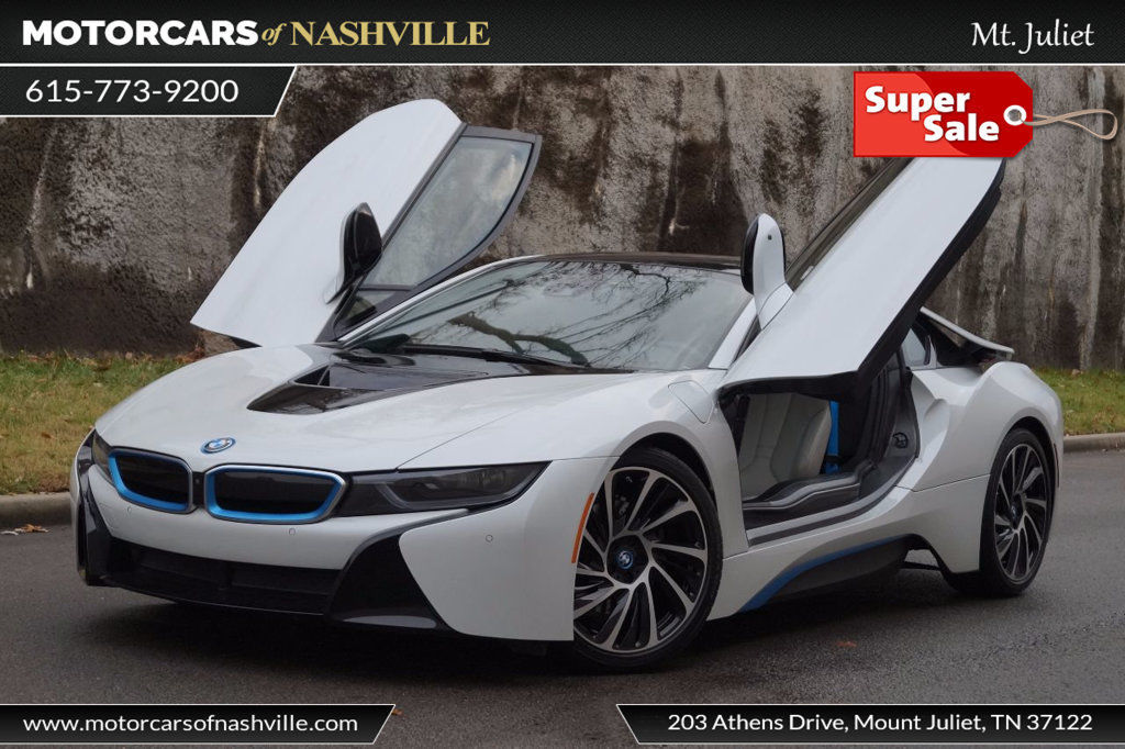 Awesome 2014 Bmw I8 Base Coupe 2 Door 2014 Bmw I8 White Low Mi Nav