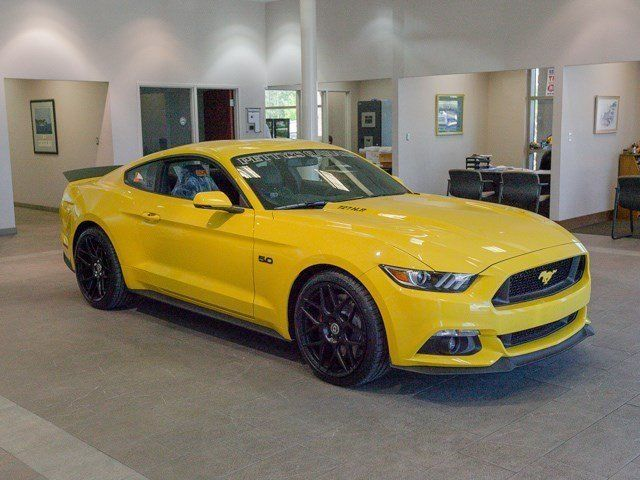 Awesome 2016 Ford Mustang Gt Premium Triple Yellow Tri Coat With 1 Miles For 2018 2019
