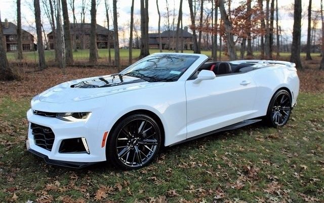 Great 2018 Chevrolet Camaro Zl1 6 Miles Summit White 2d Convertible 2l V8 Supercharg 2017
