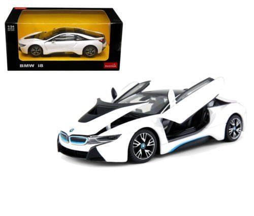 Great Bmw I8 White 1 24 Diecast Model Car By Rastar 56500wh 2018