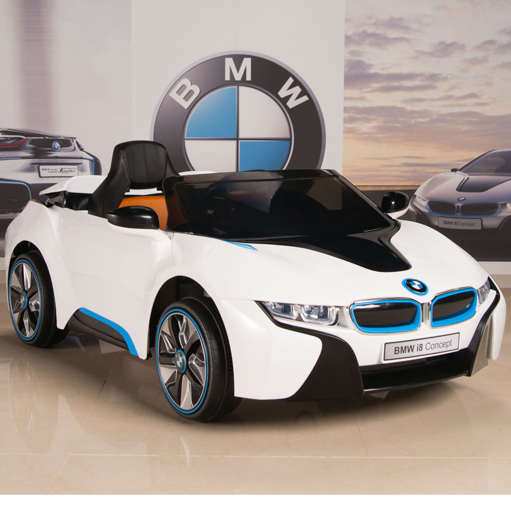 Awesome Bmw I8 Ride On Kids Power Wheels Car Rc Remote 12v White W