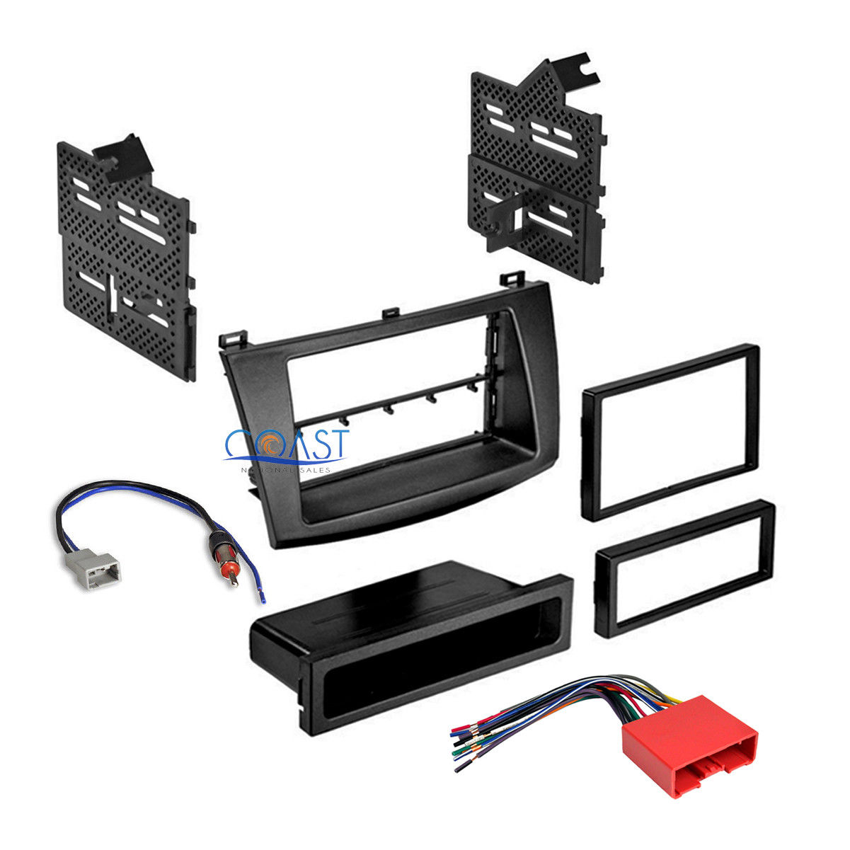 Great Car Radio Stereo Single Double Din Dash Kit Wire Harness for on