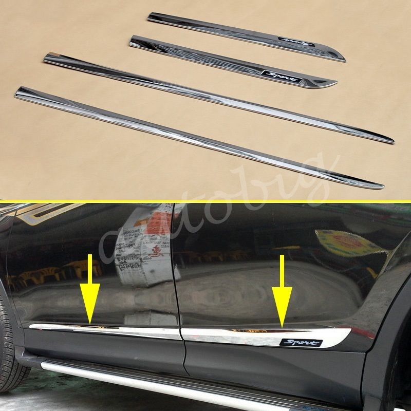 Awesome Chrome Door Body Molding Strip Trim For Toyota Rav4 2017 Accessories 2018