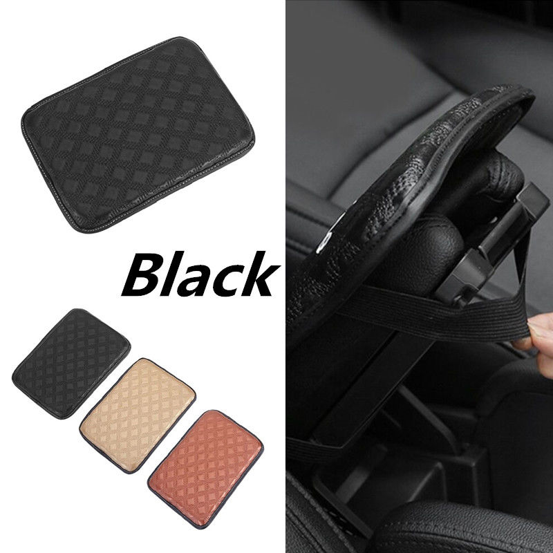 Universal Leather Car Armrest Storage Console Box Top Mat Pad Cover Cushion New