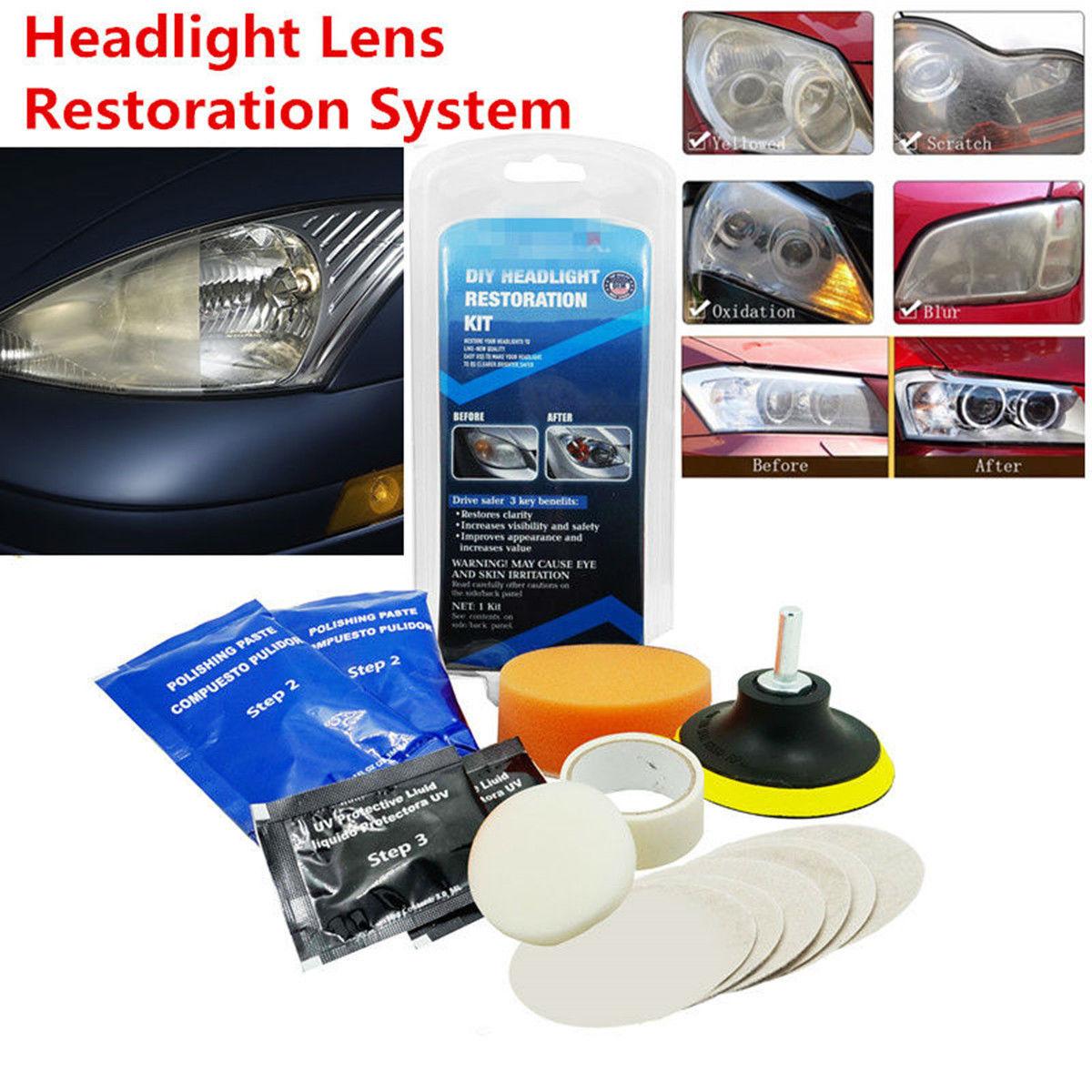 Great 14pcs Car Headlight Cleaner Restorer Headlight Lens