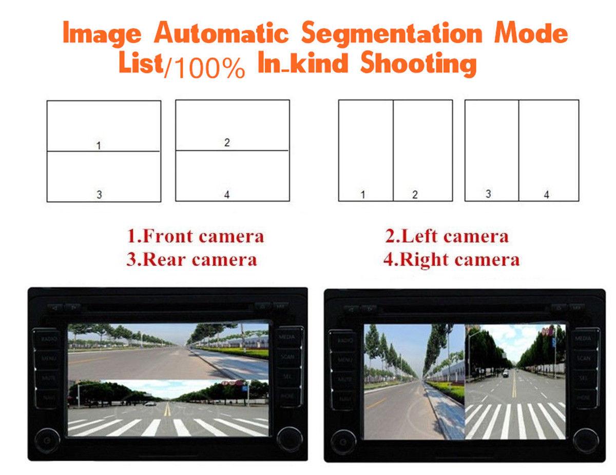 Great Car 4 Way Video Switch Parking Camera View Image Split 3 Box Item Specifics