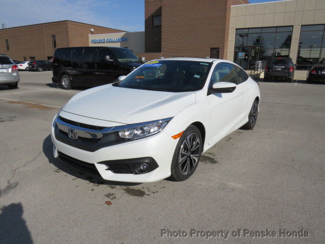 Awesome 2017 Honda Civic Ex L Cvt Low Miles 2 Dr Coupe Gasoline 1 5l 4 Cyl White 2018 2019
