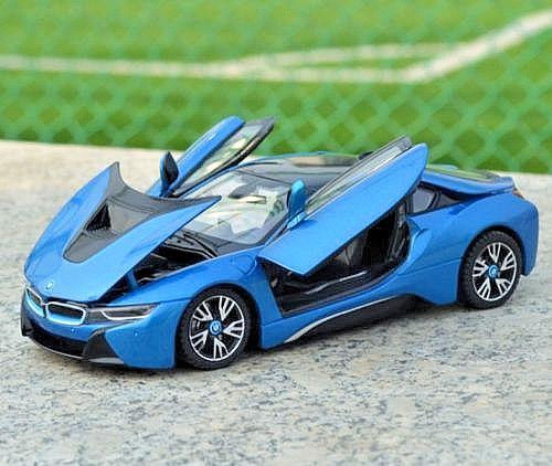 Great Rastar 1 24 Bmw I8 Concept Car Diecast Model Blue 2018 2019